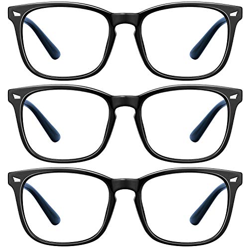 Blue Light Blocking Glasses - 3 Pack Blue Light Glasses Computer Gaming...