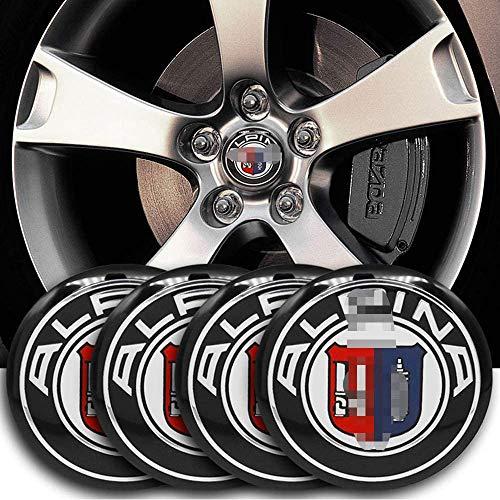 4 piezas rueda coche Llanta centro Hub Cap Badge Trim Sticker Tapas centrales para BMW E46 E39 E90 E60 E36 F30 X5 E53 F10, Emblemas cubierta ajuste automático vehículo, 56MM