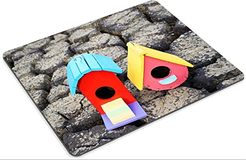 luxlady Mousepads bunt Vogelhaus auf Crack Erde Bild 21006031Individuelle Art Desktop Laptop Gaming Mauspad - 2