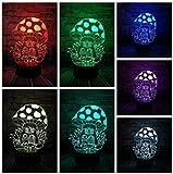3D ilusión lámpara de escritorio LED Luces nocturnas Casa de setas regalo de cumpleaños para jóvenes, niñas Con interfaz USB, cambio de color colorido