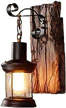 Led-lampen Vintage Smeedijzeren Boot Solid Houten Wandlamp Industriële Kunst Bar Muur Lantaarn