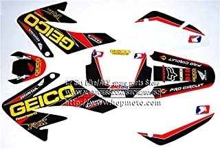 Decals & Stickers | 70 Geico Graphics KIT CRF70 Deco Decals Stickers Dirt Pit Bike SENGE Motocross Kayo BSE Use | by NAHASU