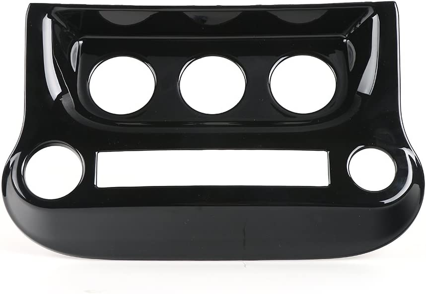 RT-TCZ Interior Accessories Air Conditioning Switch Panel Cover Trim for Jeep Wrangler 2011-2017 Black