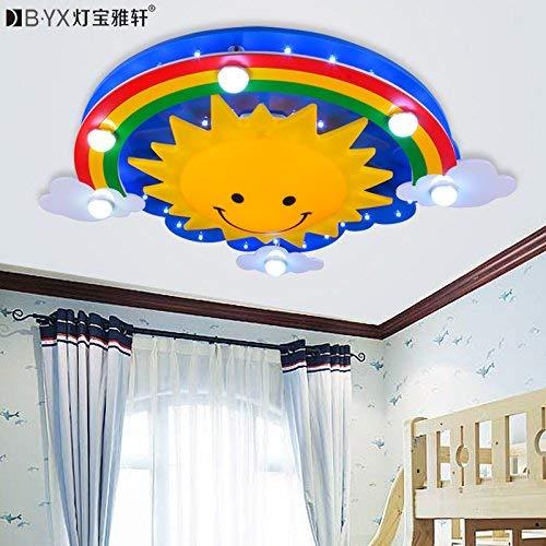 Le dessin animé a mené léclairage de chambre denfants de lampe pour des garçons et des filles princesse chaude arc-en-ciel chambre à coucher blanche 720 * 150mm