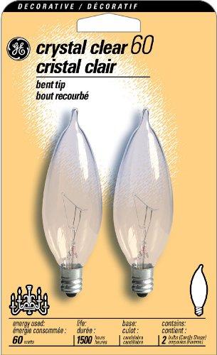 G E Lighting Ge 2Pk 60W Bt Bulb (Pack Of 6) 19153 Light Bulbs Decorative Bent Tip