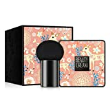 ASHOP Air Cushion BB Cream Waterproof Brighten Concealer Foundation + Mushroom Sponge (A)