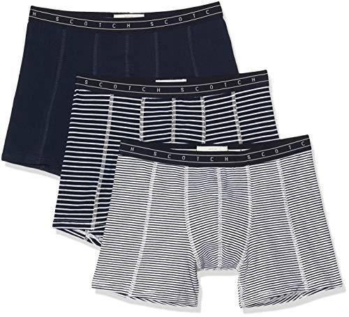Scotch & Soda Herren Nos Underwear 3 Pack Boxershorts, Mehrfarbig (Combo X 0603), (Herstellergröße:L) (3er Pack)