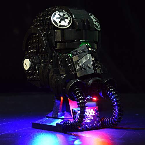 Ditzz Juego de luces LED para modelo Lego, juego de iluminación compatible con casco Lego 75274 Star Wars TIE Fighter Pilot (modelos Lego no incluidos).