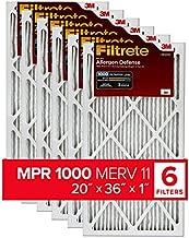Filtrete AD43-6PK-1E , AC Furnace Air Filter, MPR 1000, Micro Allergen Defense, 6-Pack (exact dimensions 19.81 x 35.81 x 0.81)