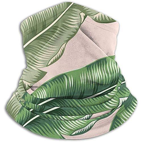 Hey Judey Grüne Bananen-Palmblätter Auf Erröten Ski-Masken-Kaltem Wetter-Gesichtsmasken-Hals-Wärmer-Vlies-Hauben-Winter-Hüte