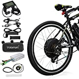 Voilamart Electric Bicycle Kit 26' Rear Wheel 48V 1000W E-Bike Conversion Kit with LCD Display, Cycling Hub Motor with Intelligent Controller and PAS System for Road Bike