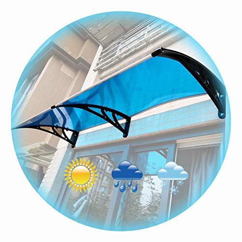 LIANGLIANG Vordach Haustür Überdachung, Aluminiumlegierung Schatten Leise Luftwiderstand Anti-UV, Benutzt für Dach Balkon Villa Draussen (Color : Blue, Size : 80x80cm)
