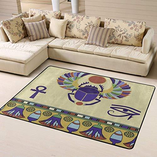 Alfombra grande para sala de estar, alfombra egipcia, escarabajo sólido, decoración...