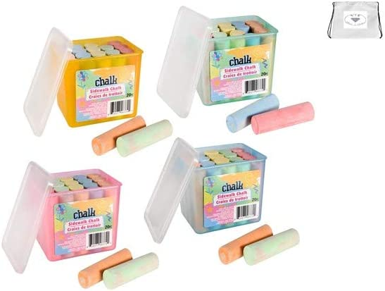 Sidewalk Mesa Mall Chalk 1 Box 20 ct. Girls Boys Inventory cleanup selling sale Fo Great Multicolor Boxes