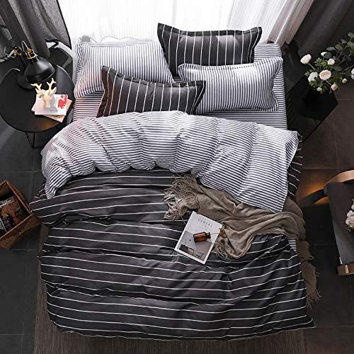QWEASDZX Cotton Padded Four-Piece Set Of Autumn And Winter Warm Double Bed Duvet Cover Breathable Moisture Absorption Decorative Items 1.8m