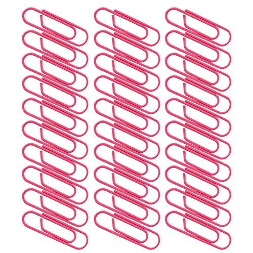 Abrazaderas de papel de metal recubierto de plástico 3 cajas de clips de papel de colores, pin lindo portátil en forma de rosa roja para papeles, escuela, material de oficina