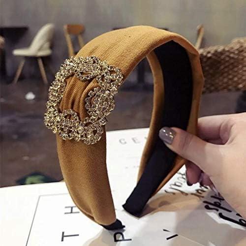 Diadema para el pelo para mujer, accesorio para el pelo, diadema (amarillo mostaza)