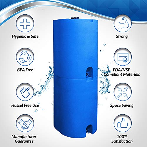 Emergency 55 Gallon Water Storage Tank with Tap