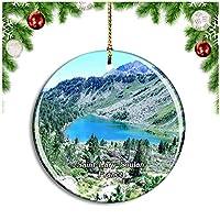フランス Saint-Lary-Soulanクリスマスデコレーションオーナメントクリスマスツリーペンダントデコレーションシティトラベルお土産コレクション磁器2.85インチ