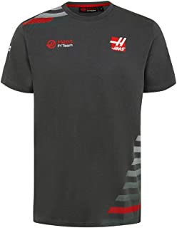 Haas American Team Formula 1 Motorsports Authentic 2018 Men's Gray Team T-Shirt (Small)