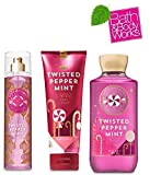 Twisted Peppermint Bath & Body Works Holiday Traditions 2015 Trio - Body Lotion - Shower Gel and Body Cream Gift Set