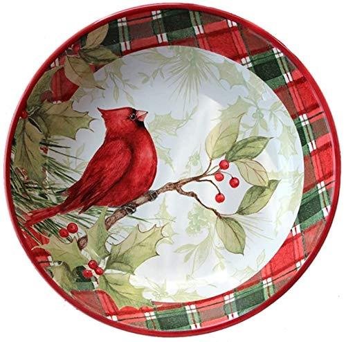 HSWYJJPFB Platos Bandeja de Aves hogar Utensilios de Cocina China de cerámica vajilla Placa de Postre (Color: Rojo) (Color : Red, Talla : 24cm*5cm)