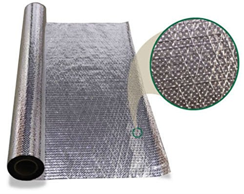 """US Energy Products 1000 sqft Radiant Barrier Double Sided Diamond Series Perforated Attic Foil Insulation 48"""" X 250' Reinforced Scrim .22mm Thickness"""