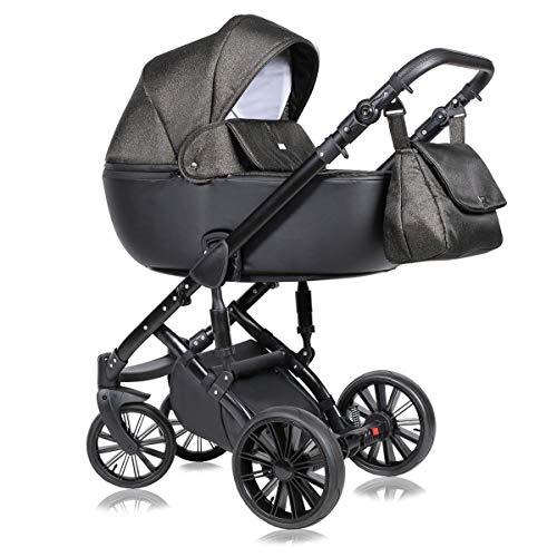 Kinderwagen 3 in 1 Komplettset mit Autositz Isofix Babywanne Babyschale Buggy Prado by ChillyKids Urban Rockstar 08 4in1 Autositz +Isofix