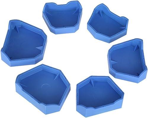 Dental Model Base Set Anself Dental Lab Former Base Kit Dental Impression Trays (6pcs Dental Model Base Set)