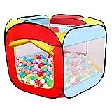 MAIKEHIGH Bällebad Spielzelt für Kinder, 6-seitig Faltbare Bällebad Babyspielplatz Zelt tragbare...
