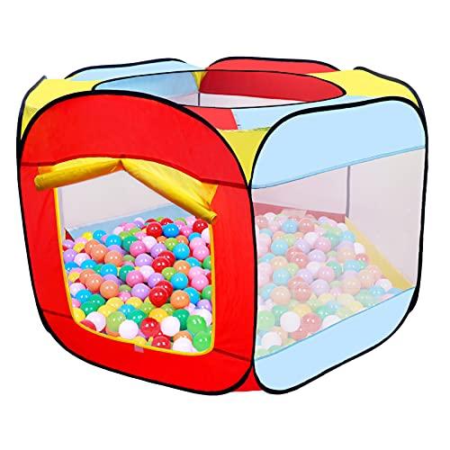 MAIKEHIGH Juego de Pelota para niños, Juego de Pelota Plegable Juego para bebé Tienda de Patio Hexágono portátil Pop Up Ball Pool Interior Casa de Juegos al Aire Libre (Bolas no Incluidas)