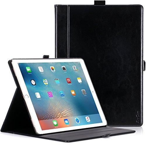 ProCase iPad Pro 12.9 Hülle - Premium Stand Case Folio Cover für Apple iPad Pro 12.9 Zoll (beide 2017 und 2015 Modelle), mit Apple Pencil Holder (Schwarz)