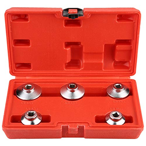 Ölfilterschlüssel, 5-teiliges Werkzeugset zum Entfernen des Ölfilter-Schraubenschlüssels mit Innensechskant 24 mm 27 mm 32 mm 36 mm 38 mm