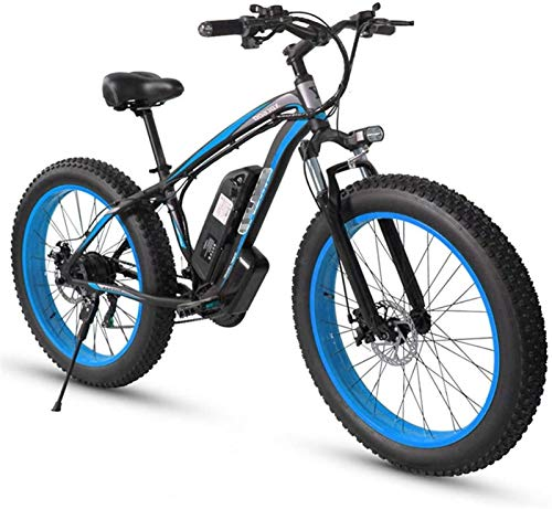 Bicicletas Eléctricas, Bicicleta de montaña eléctrica de neumático de gordo adulto, ruedas de 26 pulgadas, marco de aleación de aluminio ligero, suspensión delantera, frenos de disco dual, bicicleta d