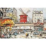 Asciende 1000 Pedazos Rompecabezas Ideal for niños y Adultos - Moulin Rouge