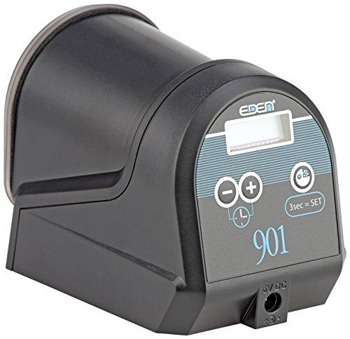 EDEN 57434 901 Futterautomat - Automatisierter Futterspender zur Fütterung von Aquarienfischen im Aquarium mit Batteriebetrieb und dichter Futteraufbewahrung - für 12 Futterausgaben