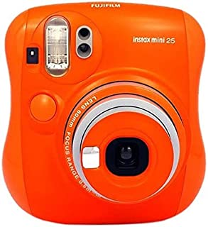Fujifilm Instax Mini 25 - Cámara analógica instantánea (Flash electrónico automático tamaño de Foto 62 x 46 mm) Naranja