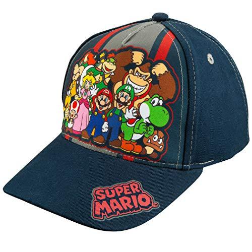 Nintendo Super Mario Family Navy Baseball Cap – Size Boys' 4-14 [6014]