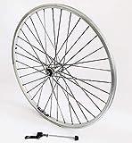 Vuelta 26 Zoll Fahrrad Laufrad Vorderrad Hohlkammerfelge Cut 19 Shimano XT 780 Silber für V-Brakes/Felgenbremse
