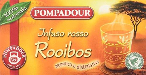 Pompadour Infusione per Bevande Calde, Rosso Rooibos RFA - 20 filtri - [confezione da 3]