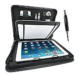 Wedo 587590101 Elegance Organizer (für Tablet PC 24,6 cm (9,7 Zoll) bis 26,7 cm (10,5 Zoll), inkl. Touch Pen, mit Universalhalter) schwarz