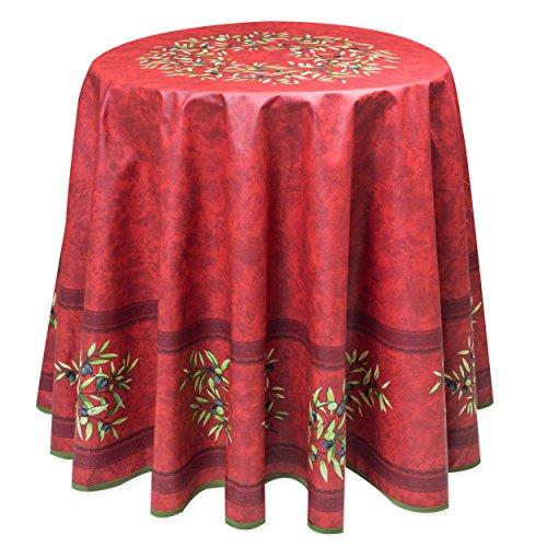 Abwaschbare Provence-Tischdecke rund ca. 180 cm Maussane Cotto, Acrylbeschichtet von Provencestoffe