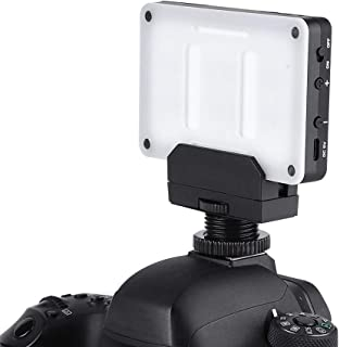 160 Beads Dimmable 3200K-6000K Color Temperature CRI90+ On-Camera LED Video Studio Fill Lamp with Ball Head NP-F550 Battery and Charger for Shooting Interview Serounder Video Light Panel US Plug