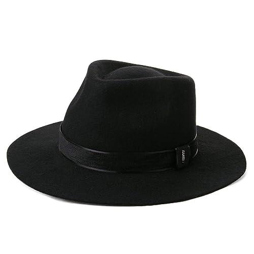 f16605a4e444f Unisex 1920s Gatsby Homburg Derby Gangster Fedora Manhattan Felt Winter Hat  55-60cm
