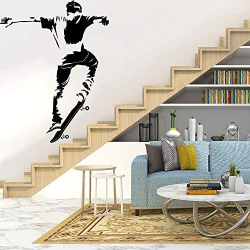 Tianpengyuanshuai Cartoon Skateboard Wandaufkleber Tierliebhaber Vinyl wasserdichter Aufkleber 28X36cm