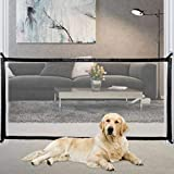 Magic Gate for Dogs,Updated Version, Pet Safety Gate, Portable Folding Mesh Safety Gates, Safe Guard Install Anywhere, Safety Fence for Hall Doorway Wide 71 Inches