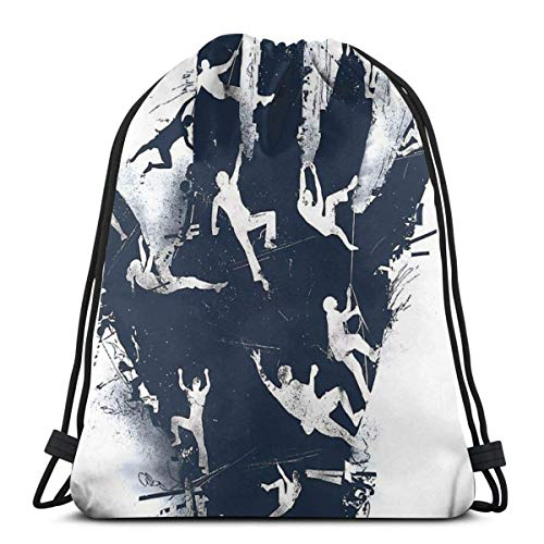 XCNGG Hand Climb Waterproof Foldable Sport Sackpack Gym Bag Sack Drawstring Backpack