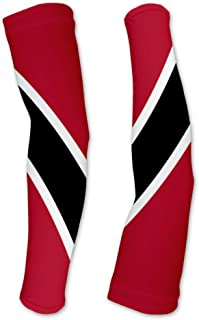 Trinidad And Tobago Flag Compression Arm Sleeves UV Protection Unisex - Walking - Cycling - Running - Golf - Baseball - Basketball