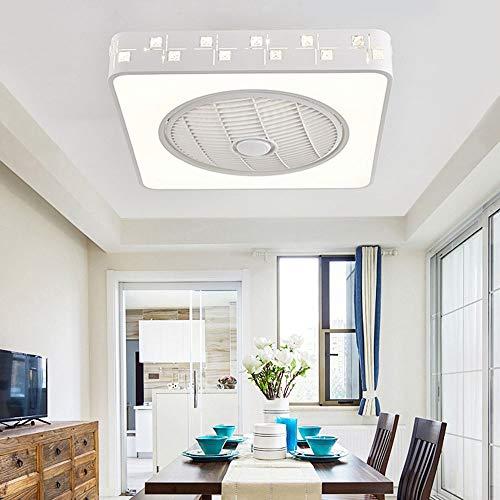 Nuanxin Luftreinigung Fan Licht Modernen Minimalistischen Kinderzimmer Deckenleuchte Quadrat Fernbedienung Einstellung, LED-Lichtquelle.Größe: 55 X 55 cm. T10