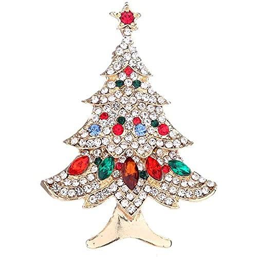 chaosong shop Bonitos pines de árbol de Navidad para bufanda, mochilas, ropa, chaquetas y sombreros